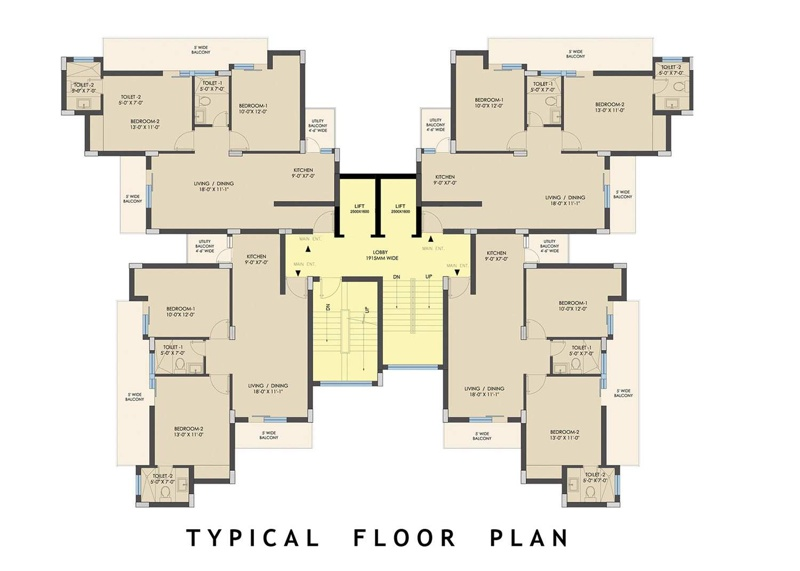 NX One Residential Apartments Floor plan