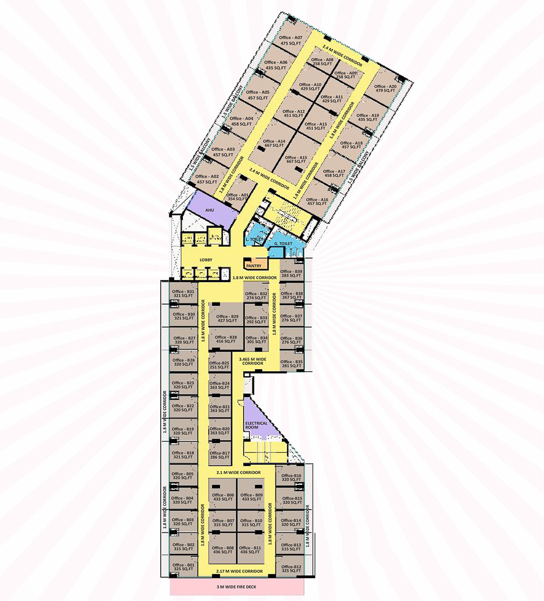nx one trade center office spaces floor plan