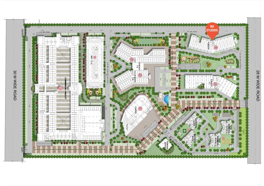 NX One Studio Apartments Site Plan